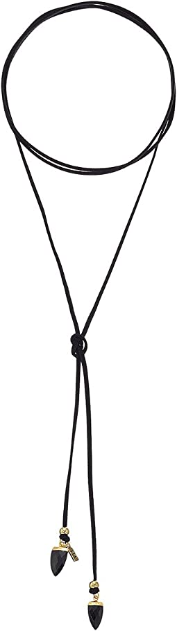 The Black Onyx Stone Bolo Necklace
