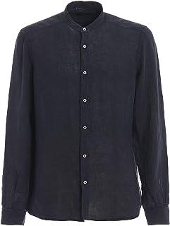 ラグジュアリーファッション | Fay メンズ NCMA138273THTKU809 ブルー リネン シャツ | シーズンアウトレット