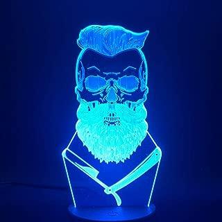 Control remoto LED 3D escritorio táctil luz nocturna decoración de peluquería interruptor de cambio de color USB o lámpara de mesa de barbero de energía festival y regalo de Navidad