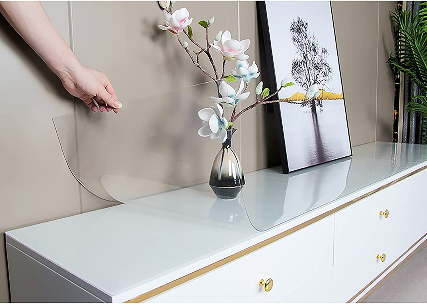 ZXCVASDF Transparent Tablecloth Clear PVC Protector Table Cover depot Ranking TOP2