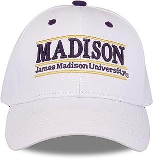 NCAA James Madison Dukes Unisex NCAA The Game bar Design Hat, White, Adjustable