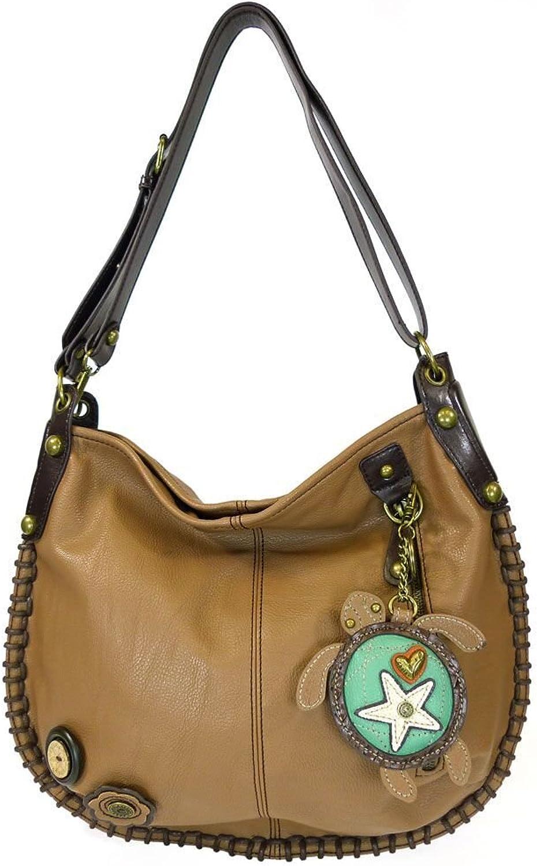 Chala Handbags Charming Hobo Crossbody Purse  Sea Turtle   Brown