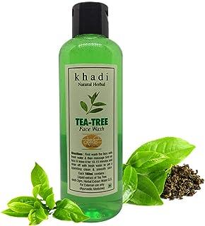 Khadi Herbal Natural SLS and Paraben-Free Tea Tree Foaming Face Wash for Women and Men, 200 ml
