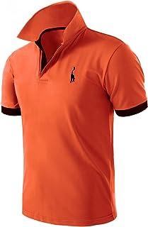Pinkpum Mens Basic Polo Shirts Giraffe Golf Tennis T-Shirt