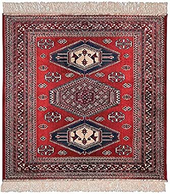 Chiraz Art Silk Mat Rug 68cm x 105cm 9379-12 red