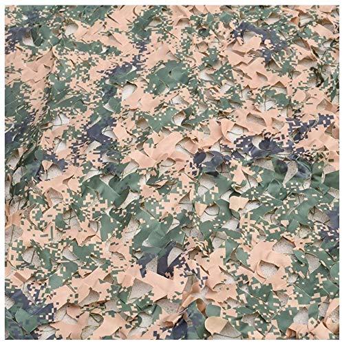 Red De Camuflaje Shade Net Shade Netting Camuflaje Neto Camo Netificación Oxford Tela Cubierta de Coche Cubierta de Pesca Decoraciones de Pared, Woodland Digital (Color : A, Size : 3x6m)