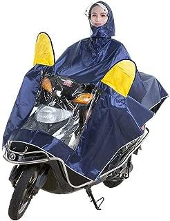 HYBAUDP Raincoat Poncho Set Electric Motorcycle Raincoat Adult Double Hat Poncho Poncho Men and Women Single Helmet Double Sided Cover Increase RaincoatXXXXL (Color : Bronze, Size : XXXXL)