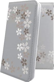 スマートフォンケース・Xperia Z2 SO-03F・互換 ケース 手帳型 サクラ 桜 花柄 花 フラワー エクスペリア 手帳型スマートフォンケース・和柄 和風 日本 japan 和 SO03F XperiaZ2 おしゃれ [RWR7427XCG]