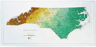 Hubbard Scientific Raised Relief Map 956 North Carolina State Map