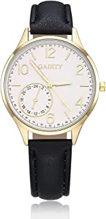 naivo Women's Quartz Stainless Steel and Gold Plated Watch, Color:Black (Model: 1)