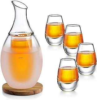 ZENS Sake Set Gläser, Japanische Sake Set 250ml mit 4 Sake
