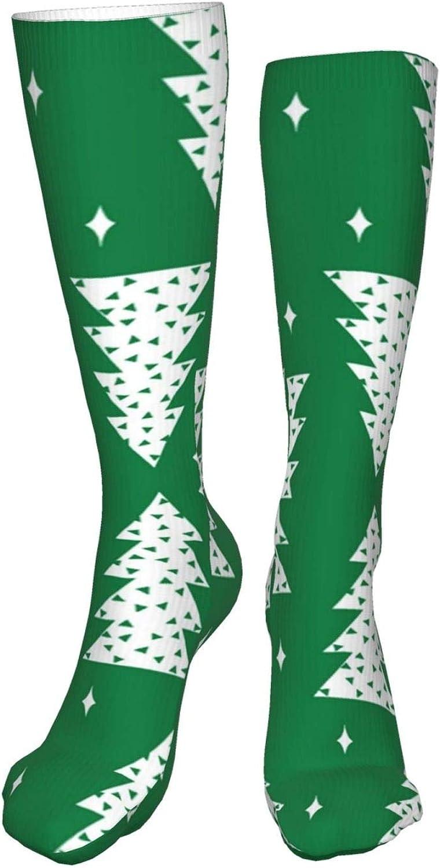 Christmas Tree Women Premium High Socks, Stocking High Leg Warmer Sockings Crew Sock For Daily And Work