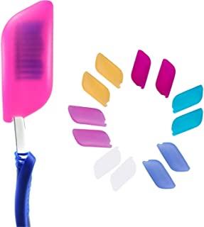 V-TOP Silicone Toothbrush Cover Case Pack of 12, Great for Home and Outdoor