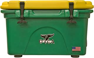 Outdoor Recreational Company of America Cooler with Lid & Bottom, Yellow/Green, 26 Quart