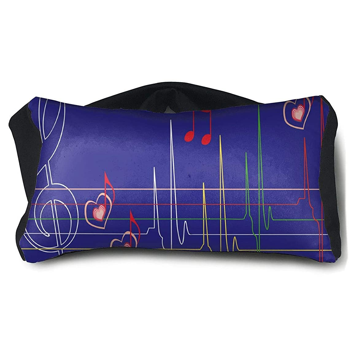 Eye Pillow Abstract Musical Notes Custom Personalized Eye Bag Patch Mens Portable Blindfold Sleeping Protection