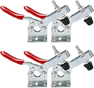 4 Pcs Toggle Clamp Antislip Gh-201-B Horizonal Quick Release Clamp Con 198Lbs Holding Capacity For Machine Operation, Wood...