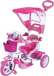 Triciclo com Capota E.T. Bel Fix Rosa/Cinza