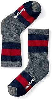 Smartwool Kids' Hike Crew Sock - Merino Wool Medium Cushion Striped Sock for Boys and Girls
