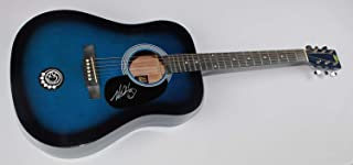 Blink 182 All the Small Things Mark Hoppus Authentic Signed Autographed Blue Full Size Acoustic Guitar Loa