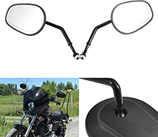NATGIC Motorcycle Side Mirrors Rearview for Harley Road King Sportster Street Glide Electra Glide Dyna Softail Road Glide 1982-2019 - 1 Pair