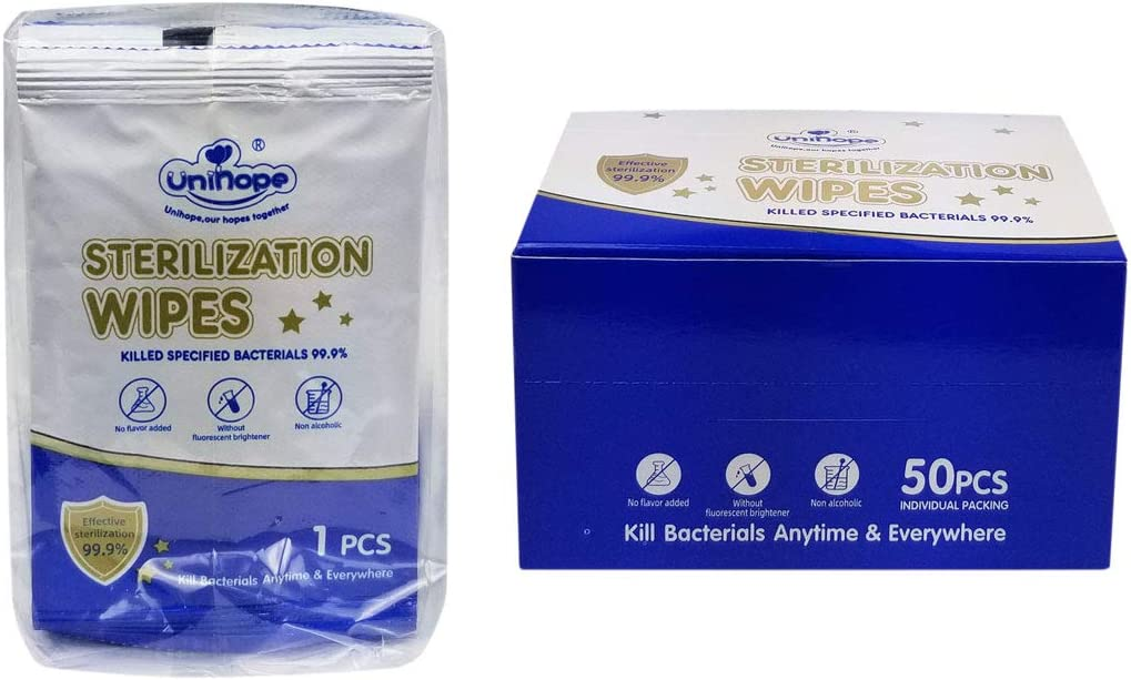 Regular store 4 Pack Unscented OFFicial mail order Sterilization Wipes Family Hands Body for Face