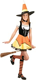 Charades Costumes Candy Corn Witch Child Costume Orange/Yellow Large