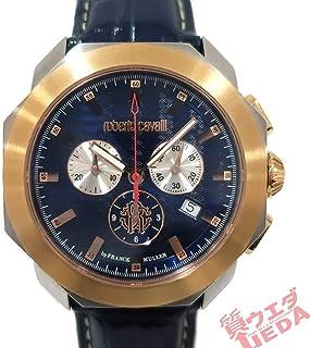 栄ロベルトカヴァリ クロノグラフ RV1G044L0041 クォーツ ネイビー文字盤 腕時計 フランクミュラー