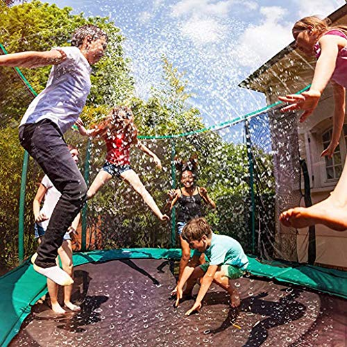 Zainafacai Trampoline Waterpark Sprinkler Best Outdoor Summer Toys for Kids Outside Water Spray Hose Trampoline Equipment (A)