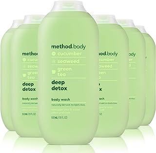 Method Body Wash, Deep Detox, 18 Fluid Ounce, Pack of 6