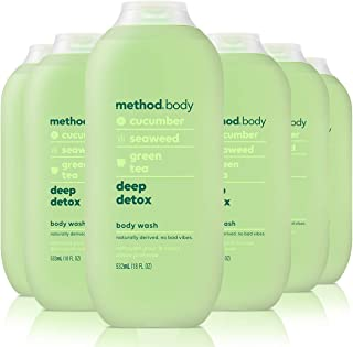 Method Body Wash, Deep Detox, 18 Fluid Ounce, Pack of 6