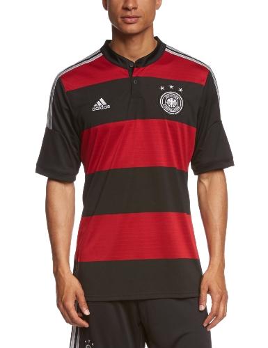 adidas Herren Trikot DFB Deutschland Auswärts, Black/Victory Red/Matte Silver, M, G74520