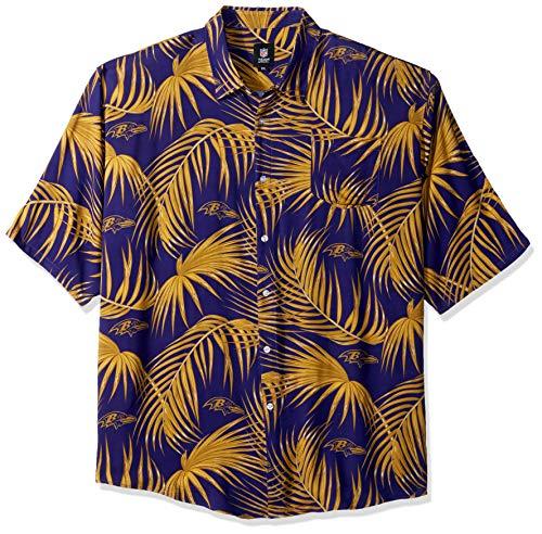 Baltimore Ravens NFL Mens Hawaiian Button Up Shirt - S