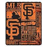 MLB San Francisco Giants Strength Fleece Throw Blanket 50-inch by 60-inch, Orange