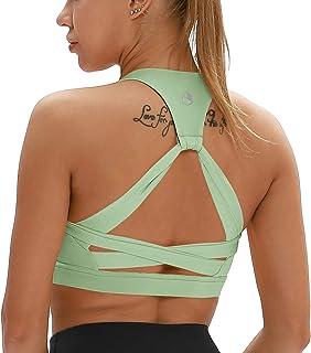 icyzone Femme Soutien-Gorge de Sport Amovibles Paddé Brassière pour Fitness Jogging Yoga