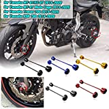 AHOLAA 1 Pair Front Rear Axle Fork Wheel Protector Crash Sliders Cap Pad for Yamaha MT-07 FZ-07 MT07 FZ07 Tracer 700 XSR 700 MT 07 Moto Cage 2014 2015 2016 2017 208 2019 2020 (Black)