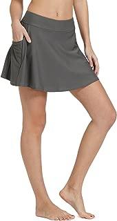Baleaf Women's High Waisted Swim Skirt Bikini Tankini Bottom with Side Pocket