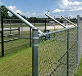 Extend-A-Post - Post Extensions for Chain Link Fence - Set of 6 Size 1-3/8