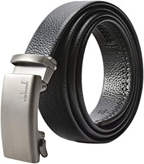 JY_shop Men's Leather, Leather Belt Fashion Belt Ratchet Dress Belt with Automatic Click Buckle for Men Enclosed in an Ele...