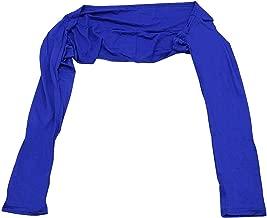 إكسسوارات Hijab بأكمام طويلة للسيدات من قماش الجيركو الإيطالي بأكمام طويلة (أزرق)