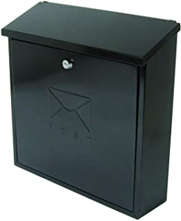 Sterling MB03BKR Contemporary Post Box, Black, 368 x 368 x 116mm