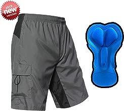 EZRUN Men's 3D Padded Mountain Bike Shorts Lightweight MTB Cycling Shorts