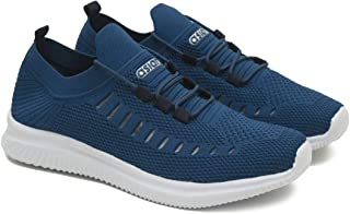 ASIAN Men's Hattrick-09 Men's Knitted Sports Shoes Sneakers,Ultra-Lightweight, Breathable, Walking, Fabric Running Shoes