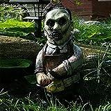 Nightmare Horror Movie Gnomos de jardín, Gnomos asesinos de jardín, Escultura espeluznante de Halloween al aire libre (Carnicero de motosierra)
