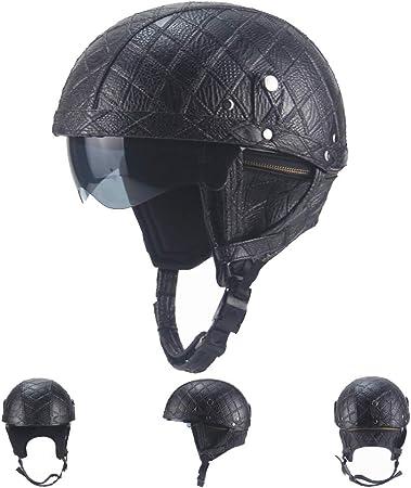 KuaiKeSport Cascos Half-Helmet Moto Personalidad Retro, Casco ...
