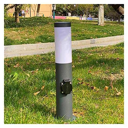 Presa da esterno Outdoor Garden Floor Light Socket 3680W Colonna energetica E27 Base Yard Lampada Lampada Prato per giardino Décor Falciatrice elettrica ( Outlets Number : NO Spike , Type : Gray )