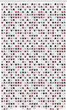 ABAKUHAUS Geometrisch Schmaler Duschvorhang, Rote Zickzacke Chevron, Badezimmer Deko Set aus Stoff mit Haken, 120 x 180 cm, Grau Weiß