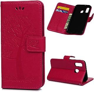 Archi A40 skal etui för Samsung Galaxy A40 mobilskal läder flipcase skyddsfodral plånbok flipcover väska stativ magnetlås ...