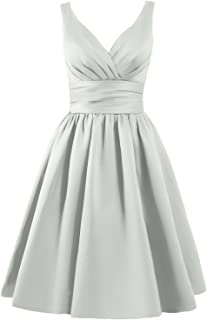 Bridesmaid Dress Short Prom Dress Satin Evening Party Dress