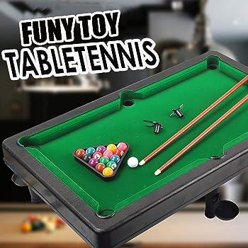 Lukame Mini juego de billar Juegos de mesa para niños Billar Mesa ...