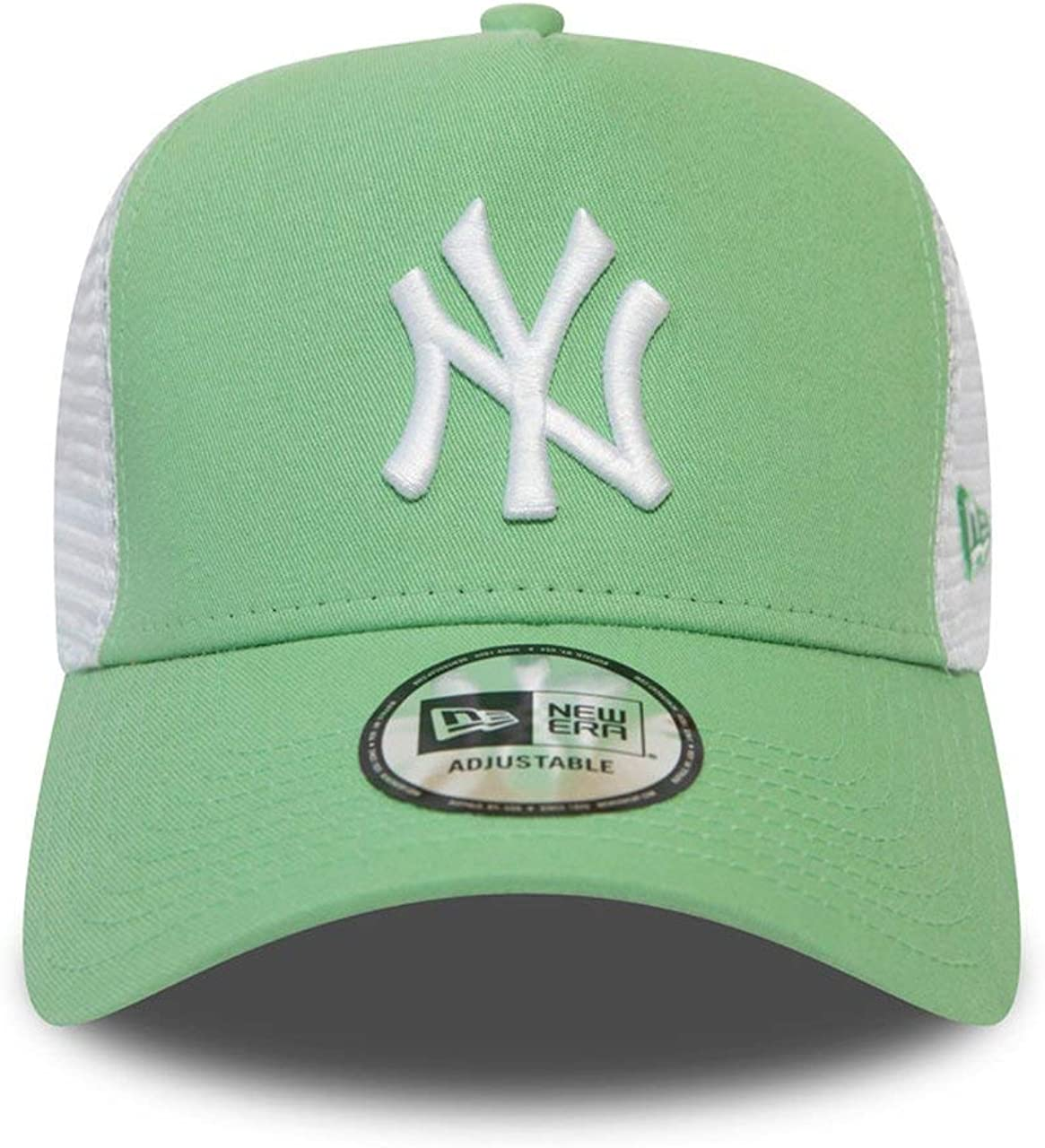 New Era New York Yankees League Essential A-Frame Adjustable Trucker Cap